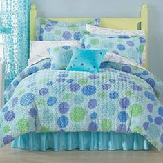 Polka Dot Swirl Comforter & Accessories -  $70