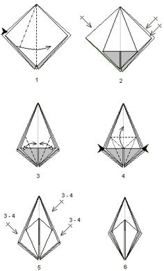 Base de la grenouille Origami Tower, Origami Day, Triangle, Symbols, Animation, Christmas, Art, Xmas, Paper