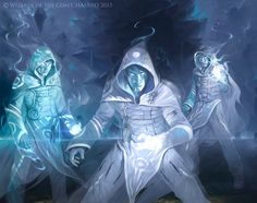 MTG - Jace's illusion squad by VictorAdameArt Fantasy Kunst, Fantasy Rpg, Fantasy Artwork, Fantasy World, Fantasy Images, Character Concept, Character Art, Concept Art, Character Design