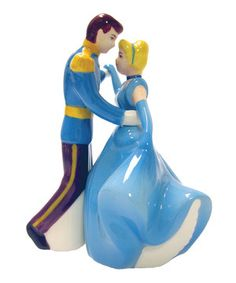 Add a dash of salt or pinch of pepper with this Disney duo shaker set. Constructed from durable, food-safe materials and modeled after a pair of familiar cartoon characters, it's the perfect supper seasoner for a magical meal. Cinderella And Prince Charming, Disney Princess Cinderella, Disney Dishes, Westland Giftware, Kitchen Gifts, Kitchen Things, Kitchen Tools, Kitchen Gadgets, Disney Kitchen