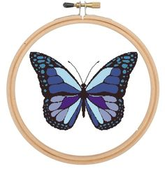 Butterfly, Moth, Blue, purple and black, cross stitch pattern £3.60