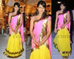 Niharika Konidela Half Saree   Saree Blouse Patterns