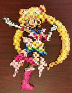 Sailor Moon Perler by jrfromdallas