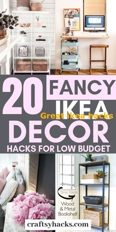 Try these ikea decorating ideas and get ikea furniture on a low budget. Enjoy th… Try these ikea decorating ideas and get ikea furniture on a low budget. Enjoy the ikea decor hacks. Ikea Bookshelf Hack, Ikea Closet Hack, Bookshelf Makeover, Closet Hacks, Ikea Shelves, Ikea Storage, Storage Hacks, Storage Rental, Bookshelf Ideas