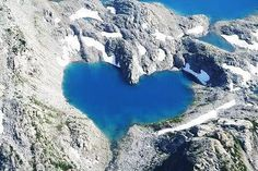 Beautiful Heart - Shaped Lake.