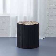 charred puzzle table-stool  | CB2