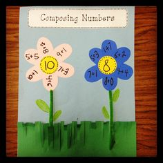 composing numbers - use with fractions & decimal numbers Math Classroom, Kindergarten Math, Classroom Ideas, Preschool, Future Classroom, Math Resources, Math Activities, Colegio Ideas, First Grade Parade