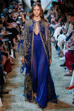 Elie Saab Fall 2017 Couture Fashion Show - Bara Podzimkova