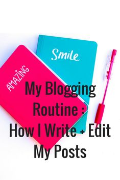 How I write and edit my blog posts and my full blogging routine. Full of productivity, and blogging tips.