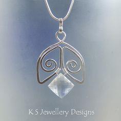 Crystal Spiral Bell - Crystal Quartz Sterling Silver Pendant (KS26) by KSJewelleryDesigns, via Flickr