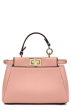 Fendi 'Micro Peekaboo' Nappa Leather Bag (Extra Small) available at #Nordstrom