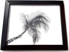 Palm Tree Ink Drawing www.GregLowmanArt.com