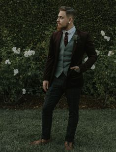 well suited groom