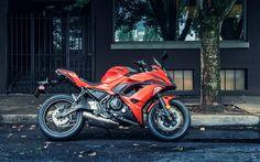 Kawasaki Ninja 650R, sport bike, street, orange Kawasaki