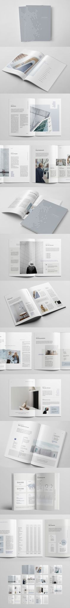 28 Pages Annual Report Template InDesign INDD