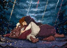 Beauty and the Beast by AdrianeSM on deviantART Wow this is just gorgeous.