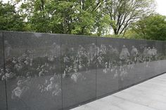 """Korean War Veterans Memorial, Daddy's face is in this wall. I fell to my knees & cried when I saw it! No one knew; I made a pic & showed it to Daddy. He was amazed too! They told us they took random pics from files to make the memorial wall. We had hoped to take Daddy to see it someday, but he died 5 months ago. Only """"regret"""" I have..."""