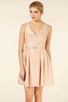 simple metallic dress