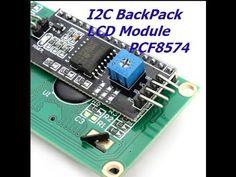 Serial LCD - I2C Backpack - YouTube