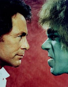 superseventies:  Bill Bixby and Lou Ferrigno in 'The Incredible Hulk' TV series.