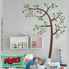 #adesivo #parede #decoração #arvore #infantil #macaco