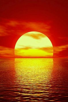art red sky landscape water sun clouds nature ocean sea color sunset mypictures digital illustation down vertical sundown render setting russian federation watery landscape Red Sunset, Sunset Beach, Cool Pictures, Cool Photos, Beautiful Pictures, Amazing Sunsets, Amazing Nature, Beautiful Sunrise, Belle Photo