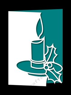 OVER THE EDGE CHRISTMAS CANDLE 4 by Apetroae Stefan With optional backing plate