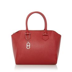 f61d3016bc22 The Collection Red crosshatch winged grab bag- at Debenhams.com