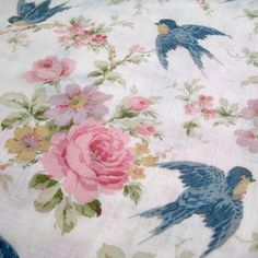 1920's 30's Vintage Bluebird and Cabbage by InWiththeOldVintage