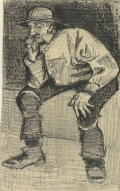 Fisherman with Sou'wester, Sitting with Pipe, 1883, Vincent van Gogh, Van Gogh Museum, Amsterdam (Vincent van Gogh Foundation)