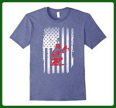 Mens Baseball Catcher Flag Shirt- Funny Baseball Shirts 2XL Heather Blue - Sports shirts (*Amazon Partner-Link)