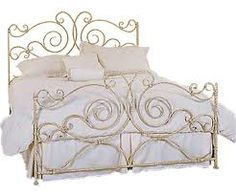 Carved Gold Cast Iron King Size Bed With Headboard And Footboard Using White Cotton Bedding Set Unforgetable Frame To Decorate Your