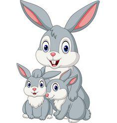 Happy rabbits family vector Animated Rabbit, Free Vector Images, Vector Free, Family Vector, Pikachu, Projects To Try, Royalty, Animation, Cartoon