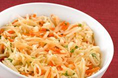 Shredded Turnip, Apple and Carrot Salad: Try this quick side salad made from purple-top turnips, carrots and Granny Smith apples as a unique alternative to cole slaw.