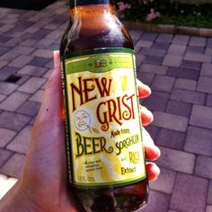 Refreshing, gluten free, and yes it's beer! (made from sorghum and rice of course)... New Grist Beer <3