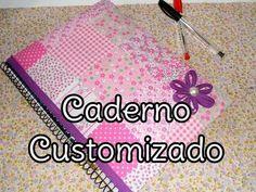 DIY: Caderno customizado com tecido (faça você mesma) - Por Vê Moraes