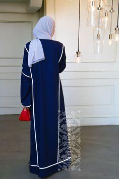 8a3663e9cbd59 Sport dark blue abaya by ANNAH HARIRI – هنا حريري Hijab Jeans