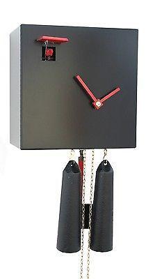 Modern cuckoo clock Black Cube, 8 day RH CU34-2 NEW