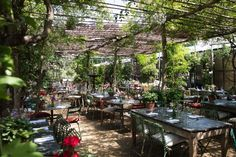 Petersham Nurseries Café, Luxury London al fresco dining Garden Nursery, Plant Nursery, Outdoor Dining, Indoor Outdoor, Outdoor Spaces, Garden Cafe, Backyard Cafe, Gardens, Restaurants