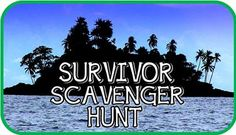 Printable Outdoor Survivor Scavenger Hunt (plus, LOTS of other printable games - AWESOME party game site!!!)