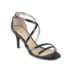 Journee Collection Lux Women's Strappy High Heels, Size: medium (9), Black