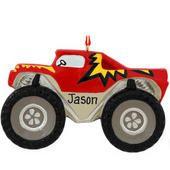 Personalized Monster Truck Ornament. Everett 2013