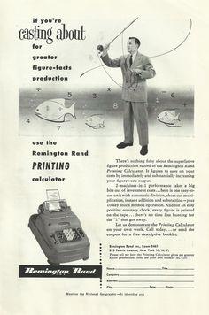 Remington Rand Printing Calculator Original 1952 by VintageAdarama, $9.99
