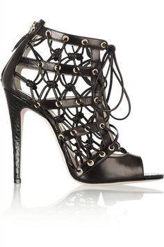 Brian Atwood cage shoes