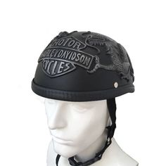 Silver Dragon Chopper Style Motorcycle Helmets For Harley Davidson & Scooter #Custom #Motorcycle