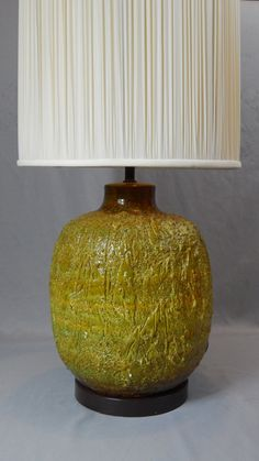 Large and Gorgeous Mid Century Avocado Ceramic by SlyfieldandSime, $125.00