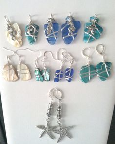 Wire Wrapped Sea Glass or Shell Pendant by DosseyDesigns on Etsy, $20.00