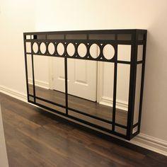 mirror radiator cover in art deco style