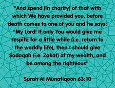 Spend in charity