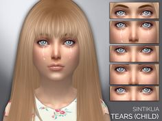 The Sims Resource: Sintiklia - Tears for child • Sims 4 Downloads
